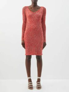 Natasha Zinko - Tie Neck Silk Georgette Dress - Womens - Beige
