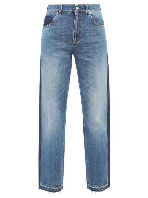 Ganni - Merkel High Rise Wide Leg Trousers - Womens - Brown