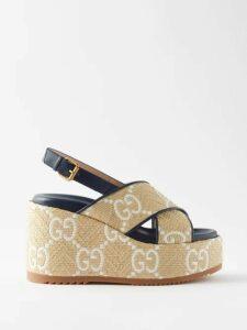 The Attico - Cheetah Jacquard Silk Dress - Womens - Brown
