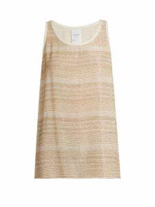 Ashish - Bead Embellished Silk Georgette Sleeveless Top - Womens - White