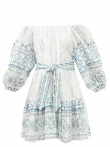 Stella Mccartney - Flare Sleeved Wool Sweater - Womens - Light Purple