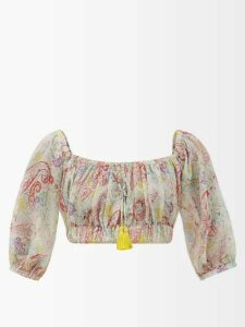 Proenza Schouler - Tapered-leg Wool-blend Trousers - Womens - Black