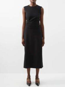 Eckhaus Latta - Bleached-denim Cropped Jacket - Womens - Light Grey