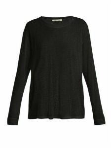 Frances De Lourdes - Marlon Round-neck Cashmere And Silk-blend T-shirt - Womens - Black