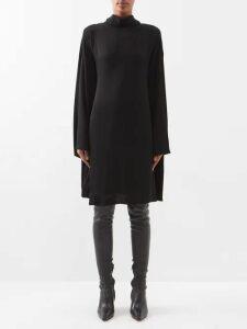 Maison Margiela - Pleated Satin Blouse - Womens - Red
