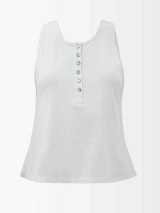 See By Chloé - City Cotton Blend Wide Leg Trousers - Womens - Red