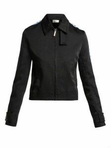 Wales Bonner - Contrast-panel Zipped Twill Jacket - Womens - Navy Multi