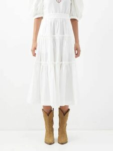 Stella Mccartney - Asymmetric Wool Blend Sweater - Womens - Camel
