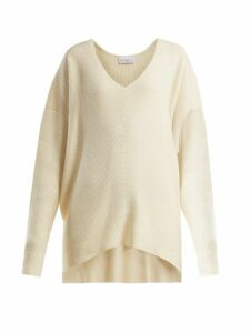 Raey - V-neck Ribbed Cashmere Sweater - Womens - Ivory