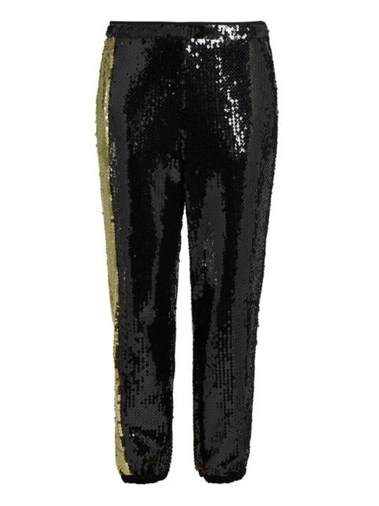 Sonia Rykiel - Sequin Embellished Trousers - Womens - Black Gold