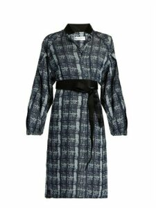 Amanda Wakeley - Tempo Denim Print Shirtdress - Womens - Blue Multi