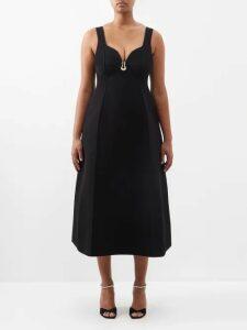 Teija - Dot Flocked Cotton Top - Womens - Orange White