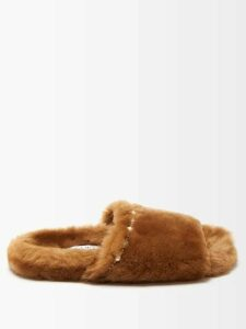 Moncler - Side-stripe Wide-leg Jersey Track Pants - Womens - Red