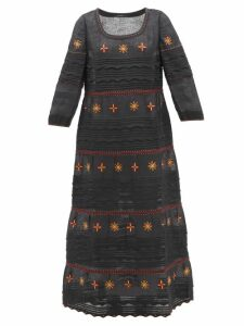 Chloé - Roll Neck Ribbed Wool Sweater - Womens - Navy