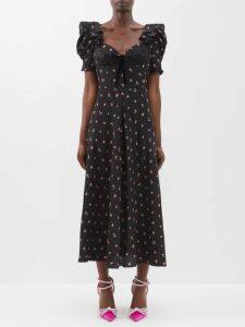 Roksanda - Arneau Striped Satin Trousers - Womens - Green Multi
