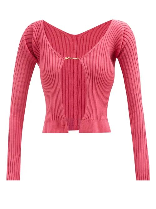 Acne Studios - Leather Jacket - Womens - Burgundy