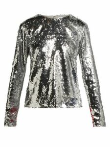 Racil - Judy Sequinned Top - Womens - Silver