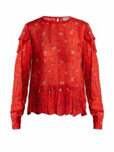 Preen Line - Bryoni Vine Print Blouse - Womens - Red Print