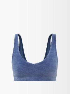 Jw Anderson - Panelled Lambswool Blend Sweater - Womens - Green Multi