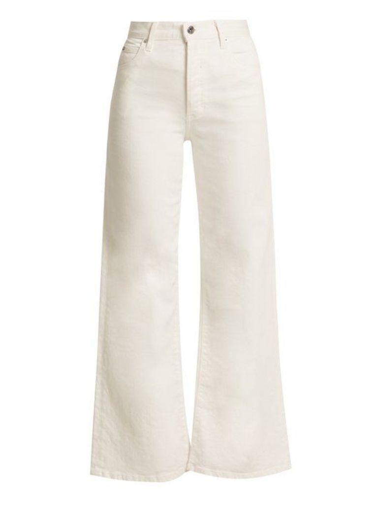 Eve Denim - Charlotte Cotton Denim Culottes - Womens - White