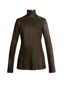 Ellery - Gospel Striped Knit Sweater - Womens - Metallic