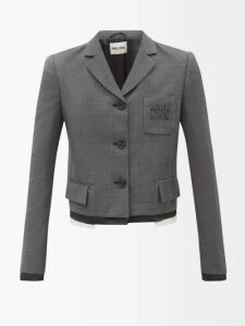 Valentino - High-neck Chantilly-lace Blouse - Womens - White