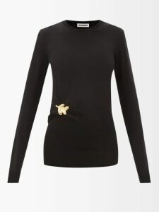 Raey - Zip-through Japanese-jersey Hooded Sweatshirt - Womens - Black