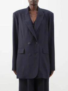 Marni - Geometric Print Maxi Dress - Womens - Blue Print
