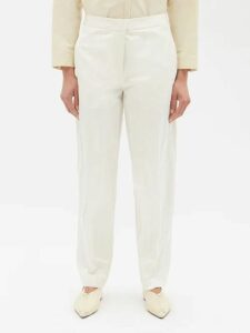 Chloé - Ruffle-trimmed Silk-blend Sweater - Womens - Dark Red