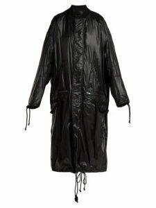 Haider Ackermann - High-shine Shell Coat - Womens - Black