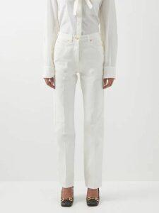 Anna October - Tie-back Cut-out Silk Dress - Womens - Light Blue