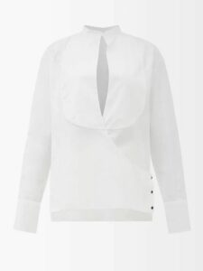 Norma Kamali - Side Stripe Boyfriend Track Pants - Womens - Red
