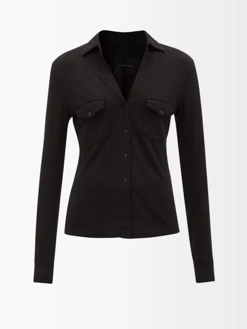 Givenchy - Houndstooth Wool Jacket - Womens - Black Multi