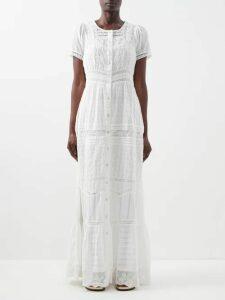 Alexachung - Open-back Floral-jacquard Dress - Womens - Pink
