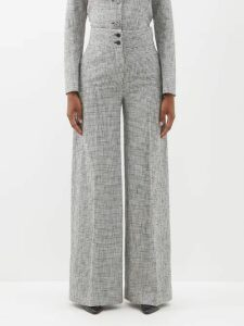 Raey - V Neck Fine Knit Cashmere Sweater - Womens - Charcoal