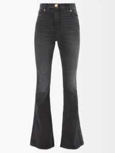 Rebecca Taylor - V Neck Ruffle Silk Dress - Womens - Black Silver