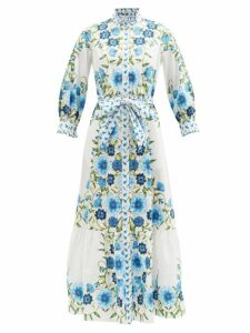 Prada - Hibiscus-appliqué Sweatshirt - Womens - Black Multi