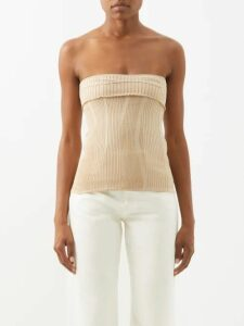Raey - Long-sleeved Striped Slubby Cotton-jersey T-shirt - Womens - Black Stripe