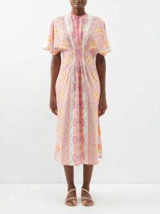 Altuzarra - Choukri Floral-print Top - Womens - Pink Print