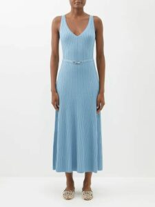 Balenciaga - Reverence Bb Print Tie Neck Silk Dress - Womens - Black Print