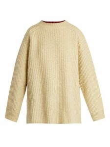 Calvin Klein - Oversized Contrast-panel Sweater - Womens - Yellow Multi