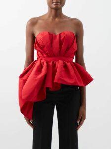 Alexander Mcqueen - Ruffle-rimmed Fil Coupé Jacquard Dress - Womens - Ivory Multi