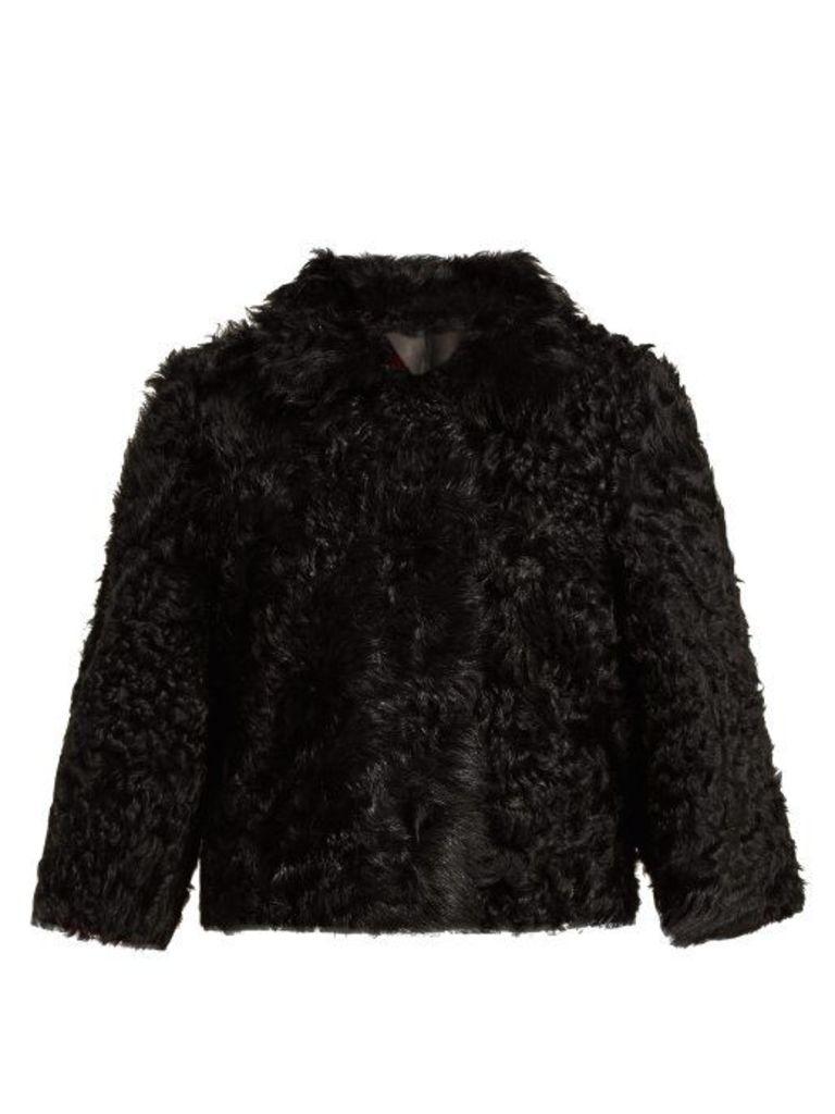 Redvalentino - Reversible Short Shearling Jacket - Womens - Black