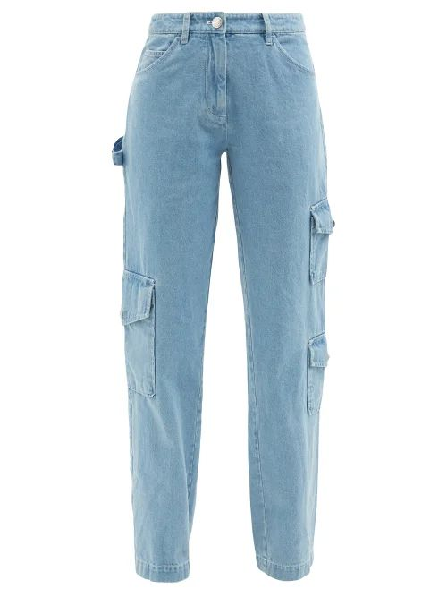 Jw Anderson - Zipped Twill Jacket - Womens - Khaki