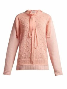 Jw Anderson - Panelled Lambswool Blend Sweater - Womens - Pink