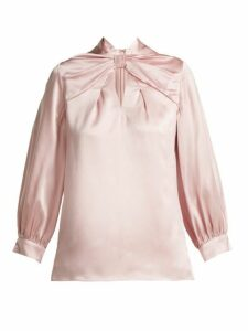 Erdem - Zadie Silk Satin Blouse - Womens - Pink