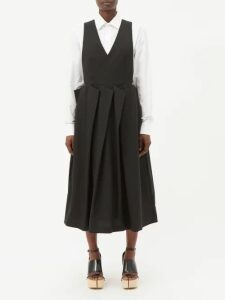Galvan - Satin Flared-sleeve Blouse - Womens - Red