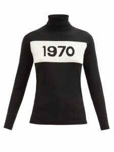 Bella Freud - 1970-intarsia Wool Sweater - Womens - Black