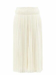 Marques'almeida - Peplum-hem Floral-jacquard Jacket - Womens - Cream Multi