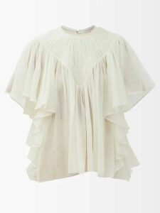 Peter Pilotto - Tiered Floral-print Tie-front Crepe Slip Dress - Womens - Multi